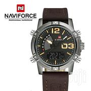 Exclusive Naviforce 9095 Quartz Digital Men Sports Watch-Brown | Watches for sale in Greater Accra, Abelemkpe