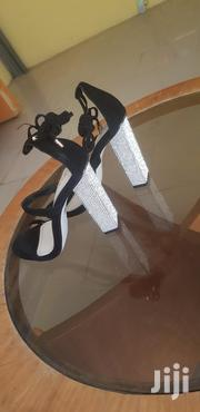 Simmi London Black Suede With Diamonte Heels | Shoes for sale in Greater Accra, Okponglo