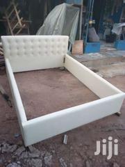 Cream Double Bed | Furniture for sale in Greater Accra, Adenta Municipal