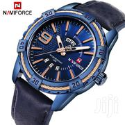 Unique Design All Blue Naviforce 9117 Leather Watch | Watches for sale in Greater Accra, Abelemkpe