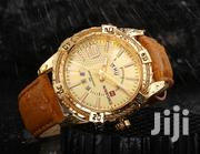 Naviforce 9117 Men Waterproof Sports Leather Watch GOLD BROWN | Watches for sale in Greater Accra, Abelemkpe