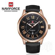 Rose Gold and Black Leather Naviforce Exclusive Designed Watch | Watches for sale in Greater Accra, Abelemkpe