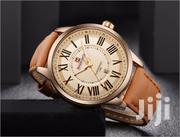 Simple Analog Style Leather Men Naviforce Watch | Watches for sale in Greater Accra, Abelemkpe
