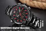 Black Red Full Steel Chronograph Watch | Watches for sale in Greater Accra, Abelemkpe