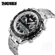 Dual Display Skmei Mens Watch White Black | Watches for sale in Greater Accra, Abelemkpe