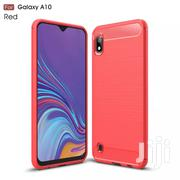 For Galaxy A10 Carbon Fiber Case [Red] | Accessories for Mobile Phones & Tablets for sale in Greater Accra, Teshie-Nungua Estates