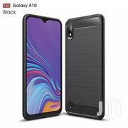 For Galaxy A10 Carbon Fiber Case [Black] | Accessories for Mobile Phones & Tablets for sale in Greater Accra, Teshie-Nungua Estates