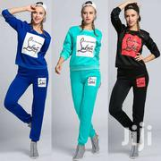 Fashion Women Casual Letter Patchwork Two Pieces Sets Printing Suits K | Clothing for sale in Upper West Region, Wa Municipal District