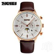 Rosegold Brown Leather Skmei Exclusive Design Business Watch | Watches for sale in Greater Accra, Abelemkpe