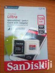 128 GB Sandisk Memory Card + Free Card Reader | Accessories for Mobile Phones & Tablets for sale in Greater Accra, Kwashieman