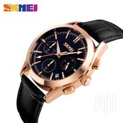 Original Leather Skmei Slimfit Wrist Watch BLACK | Watches for sale in Greater Accra, Abelemkpe