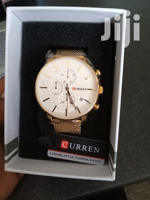 Gold Curren Chrono Watch