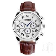 SKMEI 9078 Top Brand Leather Watch | Watches for sale in Greater Accra, Abelemkpe