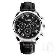 Skmei Genuine Leather Roman Numeral Dial Watch | Watches for sale in Greater Accra, Abelemkpe