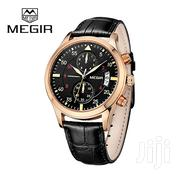 Chronograph Business Leather Megir Watch | Watches for sale in Greater Accra, Abelemkpe