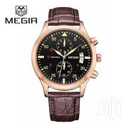 MEGIR Analog Luminous Calendar Leather Band Casual Watch | Watches for sale in Greater Accra, Abelemkpe