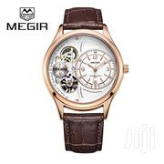 Megir 2017 Double Quartz Movement Leather Strap Watch | Watches for sale in Greater Accra, Abelemkpe