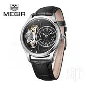 Megir Auto Leather Watch (Does Not Use Battery) | Watches for sale in Greater Accra, Abelemkpe
