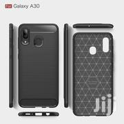 Galaxy A20/A30 Carbon Fiber Case [Black] | Accessories for Mobile Phones & Tablets for sale in Greater Accra, Teshie-Nungua Estates