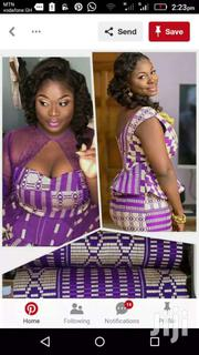 Beautiful Violet And Cream Bonwire Kente Cloth. | Clothing for sale in Greater Accra, Accra Metropolitan
