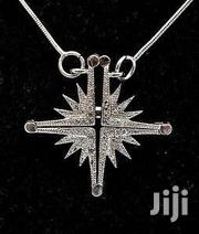Silver Necklac,Jerusalem Bethlehem Cross Opened Silver WithCrystal , | Watches for sale in Greater Accra, Dzorwulu