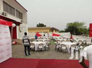 Rent Chairs Canopies Marquees Tables Cheese Tent Plates Glass Cocktail | Automotive Services for sale in Greater Accra, Abelemkpe