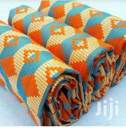 Orange, Cream And Sea Blue Quality Bonwire Kente Cloth. | Clothing for sale in Greater Accra, North Ridge