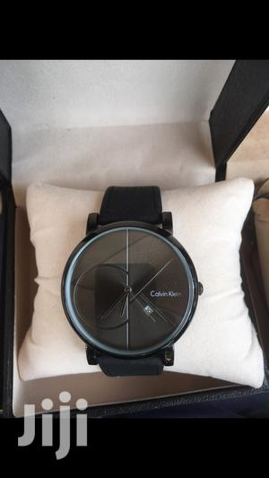 Ck Black Leather Watch
