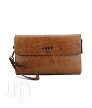 Jeep Classic Clutch Bag Wallet -brown