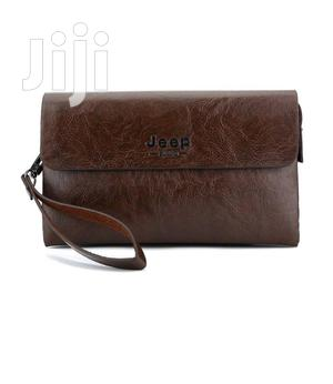 Jeep Classic Clutch Bag Wallet -coffee Brown