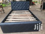 Soculate Black Leather Bed | Furniture for sale in Greater Accra, Kwashieman