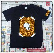 Designer Black T Shirt With African Map | Clothing for sale in Greater Accra, Osu
