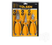 Tolsen Pliers Set Bicolor Plastic Handle 3pcs | Hand Tools for sale in Greater Accra, Accra Metropolitan