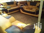Leather Sofa (Free Delivery) | Furniture for sale in Greater Accra, Nungua East