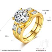 Gold Plated Ring With Zircon | Jewelry for sale in Greater Accra, Adenta Municipal