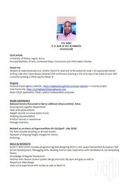 Computing IT CV | Computing & IT CVs for sale in Greater Accra, Ga East Municipal