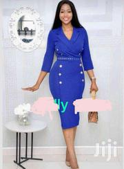 Pencil V Neck Straight Dress | Clothing for sale in Central Region, Awutu-Senya