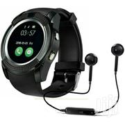 V8 Smart Watch With Wireless Earphone | Accessories for Mobile Phones & Tablets for sale in Greater Accra, Achimota