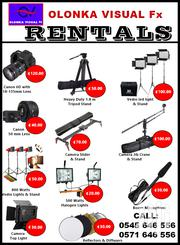 Olonka Video Equipment Rentals And Photography | Photography & Video Services for sale in Greater Accra, Dansoman