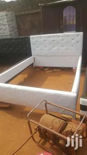 Stuffed Or Leather Bed ( Double)  For Sell Now | Furniture for sale in Greater Accra, East Legon (Okponglo)