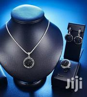Silver Black Broken Crystals Necklace Set | Jewelry for sale in Greater Accra, Ga South Municipal