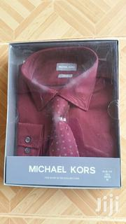 Michael Kors Slim Fit Long Sleeves Shirt With Tie | Clothing for sale in Greater Accra, Ga East Municipal