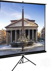 150 X 150cm Touch Mate Tripod Projector Screen | TV & DVD Equipment for sale in Greater Accra, Achimota