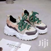 Beige Women Lace Up Platform Sport Shoes | Shoes for sale in Greater Accra, Odorkor
