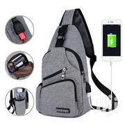 Sling Chest Bag With Side Bottle Pocket USB Port   Bags for sale in Greater Accra, Tema Metropolitan