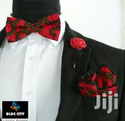 BLUE CITY African Print Bow Tie Set - Red Wine | Clothing Accessories for sale in Greater Accra, Odorkor
