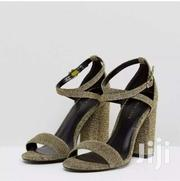Gold Block Heels | Shoes for sale in Greater Accra, Ga South Municipal