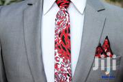 BLUE CITY Flying Tie With Pocket Square - Red And White | Clothing Accessories for sale in Greater Accra, Odorkor