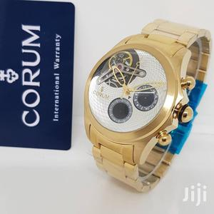 Corum White AAA Chronograph Gold Watch