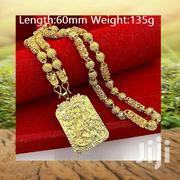 Gold-plated Necklace Chain Plus Pendant Jewelry Gift For Men | Jewelry for sale in Greater Accra, Ga West Municipal